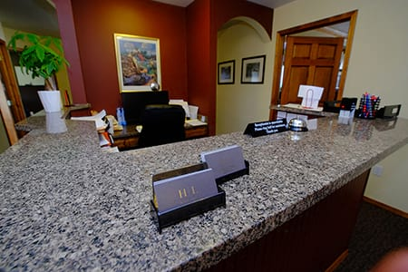 Picture of the Front Desk within the Hatch Law Office location